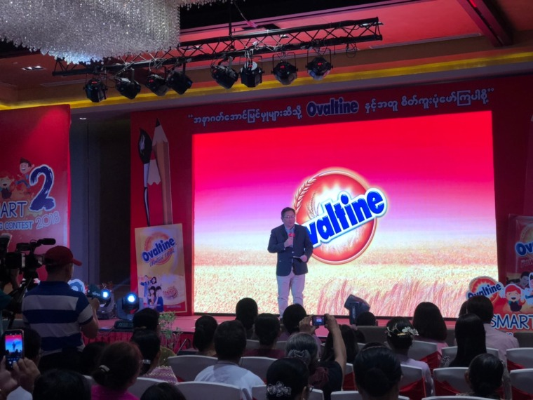 Mr Ramon-Sheodore Villaflor, General Manager of Ovaltine Myanmar - Giving a speech