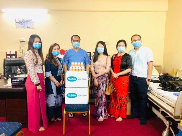 Nat C Donation at New Yangon General Hospital_Prof Zaw Lynn Aung Ward Ward_(ရန်ကုန်အထွေထွေရောဂါကု ဆေးရုံသစ်ကြီးသို့ ပေးအပ်လှူဒါန်းစဉ်)